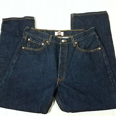 Levis 501 Jeans Actual Size 31 X 27.5 Mens Boys Buttonfly Straight Leg Mexico