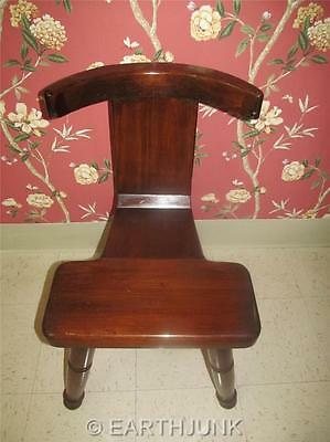 William Fetner Cock Fighting Chair Antiqued Distressed Pine w. Cosmetic Wear