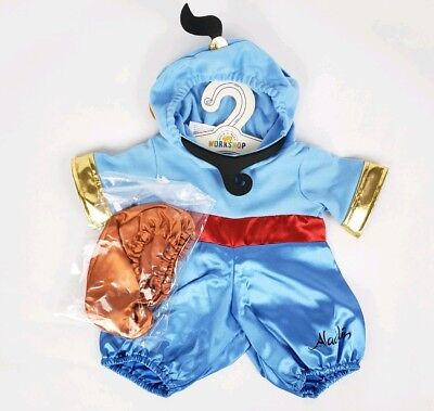 Build A Bear Workshop Aladdin Genie Costume Outfit Shoes Lamp NEW Gift