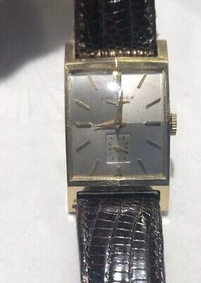 Vintage 14K Solid Yellow Gold Longines Mens Consul Model Wristwatch -Running