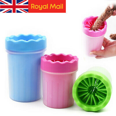 Pet Paw Plunger Mud Fur Portable Cleaner Washer Mudbuster Dog Cat Cup Brush UK