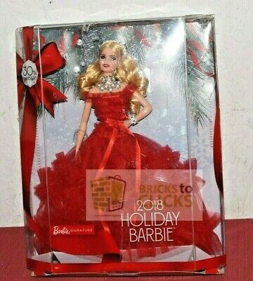 2018 Holiday Signature Barbie 30th Anniversary Collector Doll Blonde