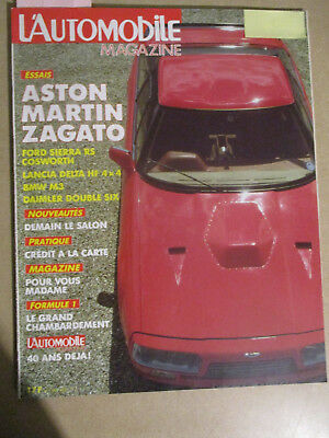 L'automobile Magazine N°483: 09/1986: Bmw Z1 - Aston Zagato - M3 - Sierra Rs Cos