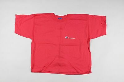 4fc39f63d8ff New Vintage 90s Champion Mens Large Spell Out Crop Top Knit Shirt Berry Pink