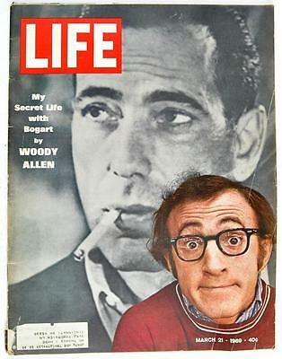 Vintage Life Magazine 1969 March 21 Woody Allen Bogart 70s Policy World Police