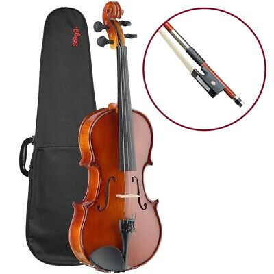 Stagg 4/4 Size Solid Maple Violin Full Size with Case, Bow and Rosin