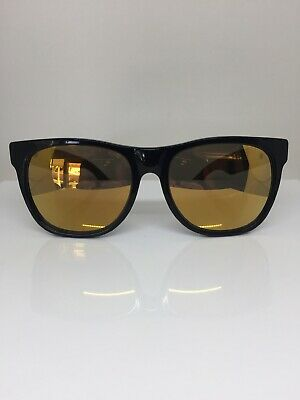 bf57aa8eab93 Retrosuperfuture Classic Basic SUPER Sunglasses M. 052/3T Black With Gold  Mirror