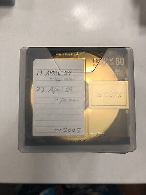 15x Sony Gold Premium Recordable MD-80 Digital Audio Minidisc MD, With Cases