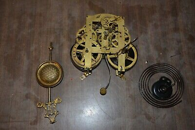 Vintage Terry Clock Movement & Parts Pittsfield Mass