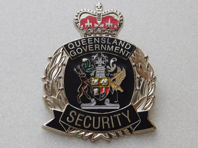 Queensland Government Security Badge - Replica Badge Not Official