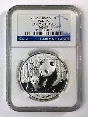 2012 China S10Y 10 Yuan 1 Oz .999 Silver Panda – NGC MS 69 Early Releases