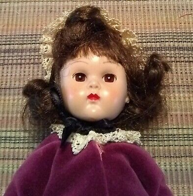 vintage brown haired Ginny walking doll Vogue Dolls Inc