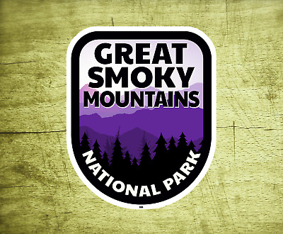 """Great Smoky Mountains Decal Sticker Vinyl 2.75"""" x 3.5"""" National Park Tennessee"""