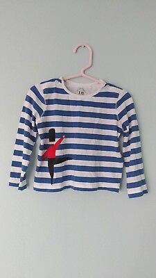 Burberry Baby Boy Blue White Stripe 💂 Guard Shirt Top, Size 18 Months