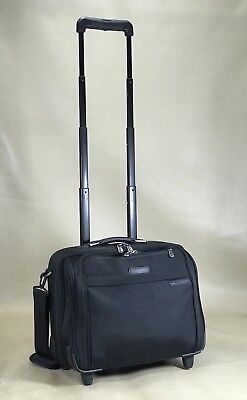 Briggs & Riley Compact Rolling Laptop Case Briefcase Carry On BR214 $289