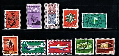 Hick Girl Stamp- Beautiful Used German Stamp Assortment   1968-69 Issue   M1045