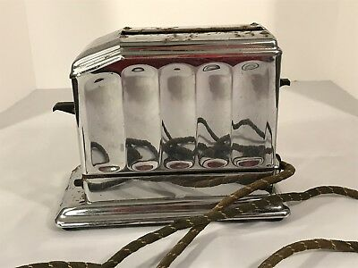 ANTIQUE TOASTER COLLECTORS! Vintage Art-Deco Chrome