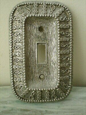Vintage  American Tack & Hardware 1968 Single Switch Plate Cover Ornate 50 T EUC