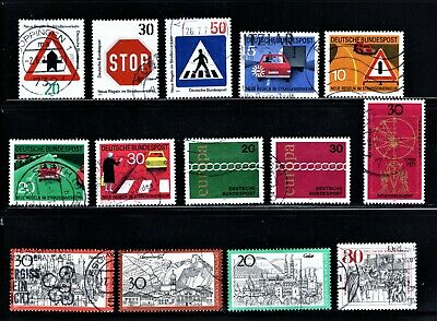 Hick Girl Stamp-  Beautiful Used German Stamp Assortment  1970 Issue   M1050