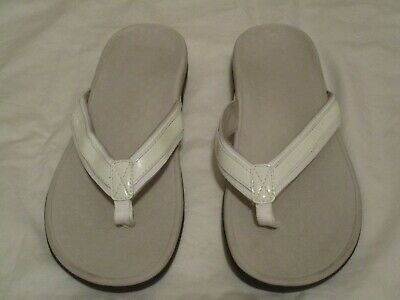 e2d7025dd14 Vionic Orthaheel Tide II Flip Flop Thong Women s Off White Sandals- Size 12M