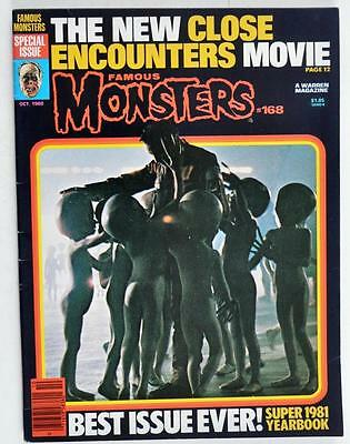 Vintage OCTOBER 1980 FAMOUS MONSTERS #168 BEST ISSUE EVER