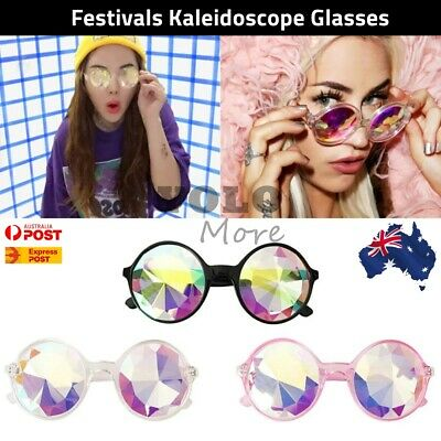 Festivals Kaleidoscope Glasses Rainbow Prism Sunglasses Steampunk Goggles