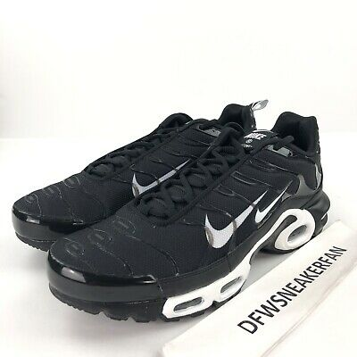 info for a8cfd 7fcac Nike Air Max Plus PRM TN Men s 13 Black White Running Shoes 815994 004 New