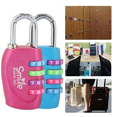 TSA Resettable 4 Digit Combination Lock Travel Luggage Suitcase Code Padlock New