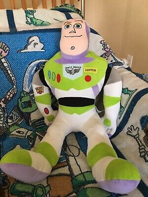 Disney Toy Story Plush Toy W/ Toy Story Themed Knitted Pinic Throw Planket