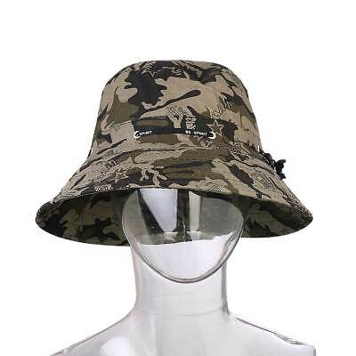 78e58d64f55 Military Camo Bucket Hat Boonie Flat Hunting Fishing Outdoor Summer Cap  Unisex