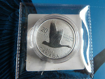 2014 $20 for $20 Silver Goose Coin, 1/4 oz .9999 silver w/original mint COA