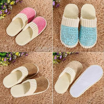 Lovers Women Men Warm Soft Anti-Slip Letter Indoor Home Cotton Slipper Shoes New
