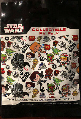 Disney Collectible Pin Pack STAR WARS CUTIES Mystery Bag 5 Pins Sealed in Canada