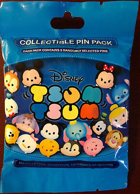 Disney Collectible Pin Pack TSUM TSUM SERIES1 Mystery Bag 5 Pin Sealed in Canada