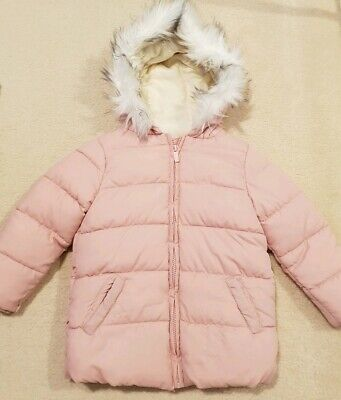 COTTON ON Girls Pink Lined Puffer Jacket  Size 3 - 4