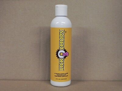 1 New 8oz Bottle of Dinovite LickOchops - A Fatty Acid Supp. For Cats/Dogs