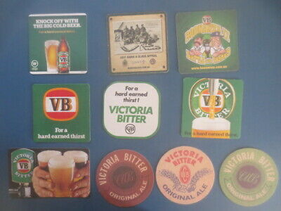 10 different VICTORIA BITTER Brewery,,collectable Beer COASTERS
