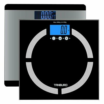 Electronic LCD Digital Bathroom Body Weight Scale Tempered Glass Health Analyzer