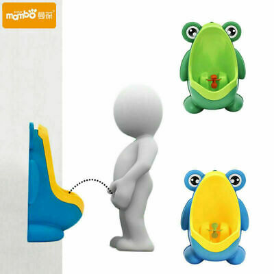 New Frog Kids Potty Toilet Training Urinal Trainer Bathroom for Boy Baby Pee