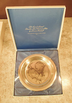 "1971 NORMAN ROCKWELL ""UNDER THE MISTLETOE"" 6.5 oz.SOLID STERLING SILVER PLATE"
