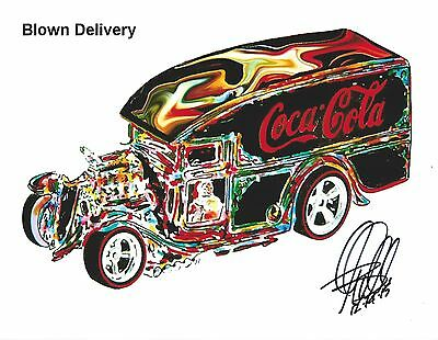 Hot Wheels Blown Delivery Redline Truck Car Racing Print Poster Wall Art 8.5x11