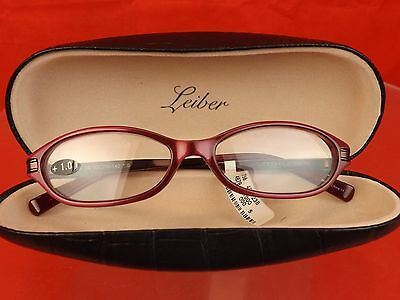 Nib Judith Leiber Jl1572A 06 Ruby Crystals Metal Frame Reading Glasses +1.00