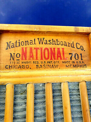 VINTAGE ANTIQUE NATIONAL WASHBOARD COMPANY NO. 701 CLOTHES WASHER primitive