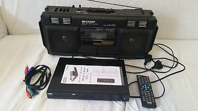 Sharp Boombox and Laser DVD player