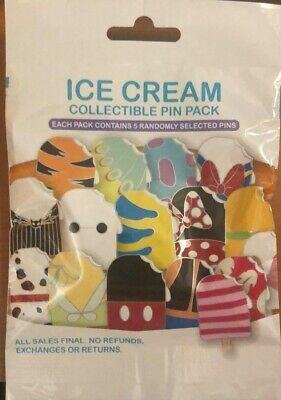 Disney Collectible Pin Pack ICE CREAM  Mystery Bag of 5 Pins Sealed in Canada