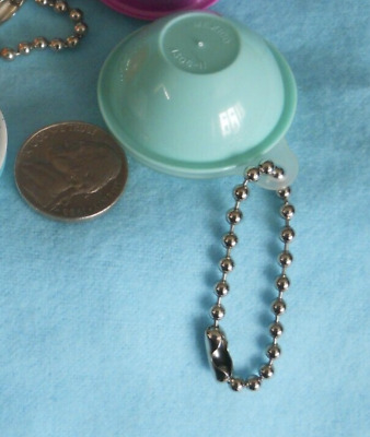 Tupperware Wonderlier Bowl Keychain Opens Solid Mint Green with Sheer Seal New