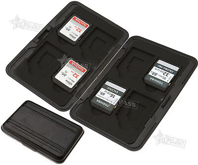 8 in 1 Memory Card Case Storage Carrying Box Holder Protect Holder Black