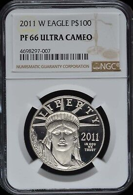2011-W 1 oz Proof Platinum American Eagle NGC PF66 Ultra Cameo