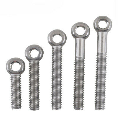 RUSTPROOF STAINLESS STEEL Lifting Eye Bolt Nut Washer M6 M8 M12