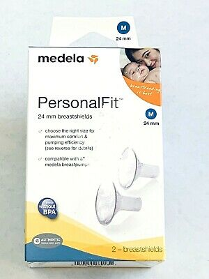 Medela Personal Fit Medium 24 mm Breastshields Lactation Breast Feeding Pumping